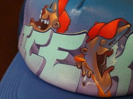 Diseo de gorras con grafitis en Jvea 02