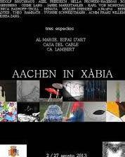 """Cartel de la exposición """"Aachen in Xàbia"""""""