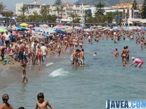 Las playas de Jávea han gozado de una ocupación alta durante los meses de verano