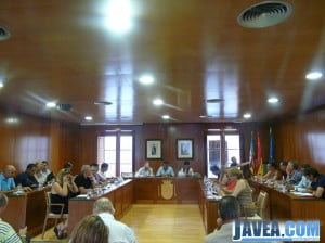 Salón de plenos del Ayuntamiento de Jávea