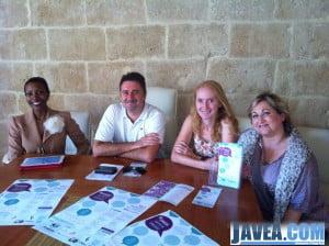 Juan Luís Cardona presentando y apoyando la jornada de emprendedores de Jávea