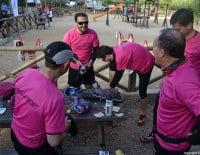 Corredores preparándose antes de la carrera Granadella Trail Jávea