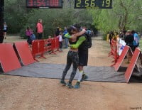 Emotiva llegada en la Granadella Trail 2014