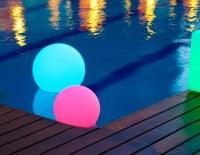 Esferas de colores Led de Fuego Difusión