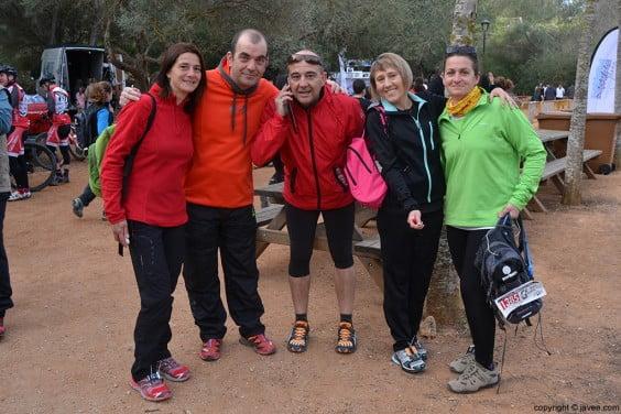 Grupo de participantes en la Granadella Trail 2014 Jávea