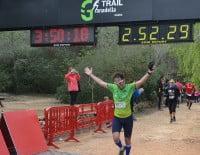 Línea de meta de la Granadella Trail 2014