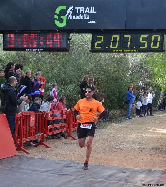 La meta estaba situada en el parque Pinosol de Jávea