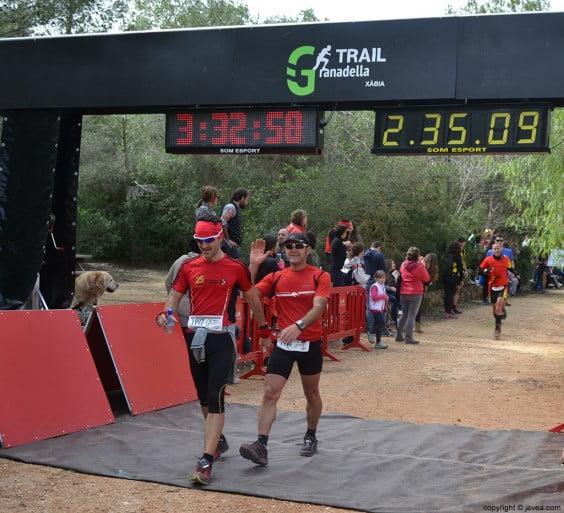 Llegada a la meta después de la carrera