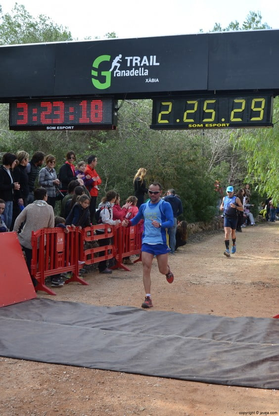 Llegada a la meta en el Parque Pinosol