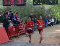 Llegada a la meta situada en el Parque Pinosol de Jávea