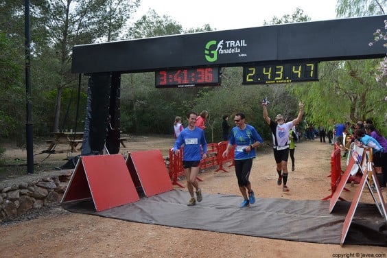 Llegada al punto de meta de la Granadella Trail de Jávea