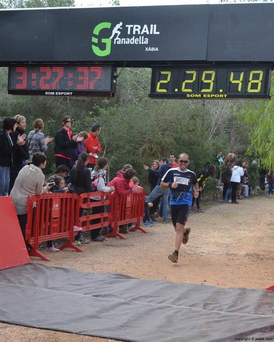 Llegando a la meta después de la carrera