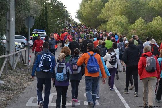 Los caminantes después de la salida