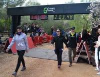 Los caminantes iban llegando poco a poco a la meta
