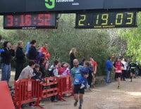 Los pequeños participaron en el momento más emocionante de la carrera