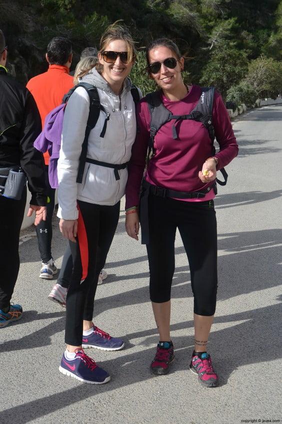 Participantes en la Playa de la Granadella de Jávea