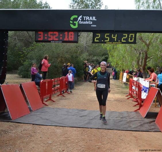 Punto de meta de la Granadella Trail 2014
