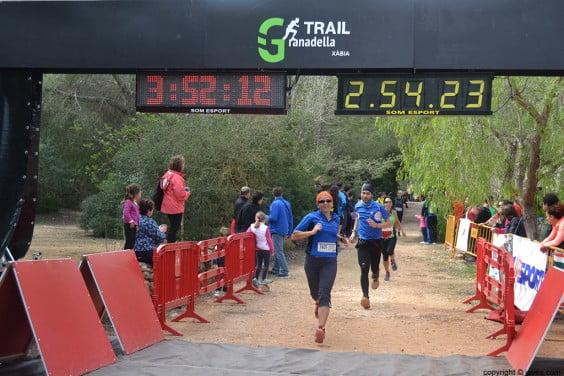 Punto de meta de la Granadella Trail Xàbia