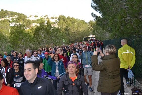 Salida caminantes Granadella Trail 2014 Jávea