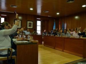El salón de plenos del Ayuntamiento de Jávea durante una sesión plenaria extraordinaria