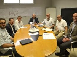 José Chulvi, Josep Lluís Henarejos y los alcaldes de los municipios del sur de la comarca