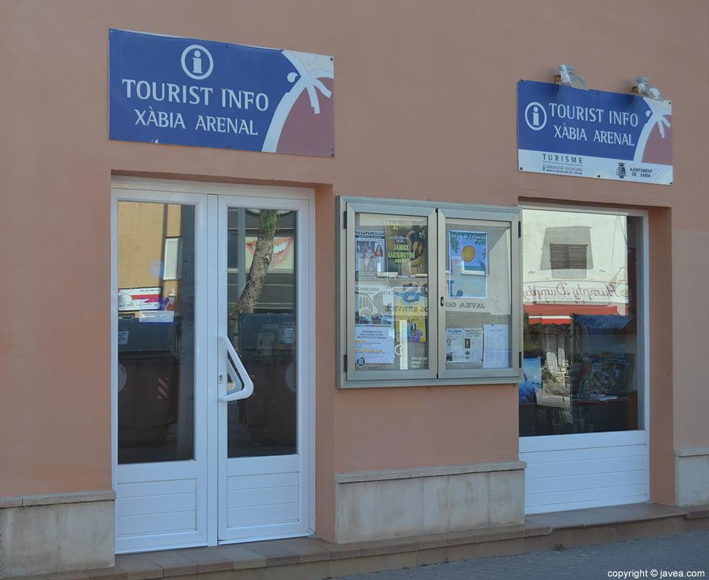 oficina de turismo en el arenal de j vea