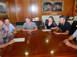 Firma para la rehabilitación del molino número 2 de La Plana