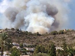 Declarado un incendio en Las Planas