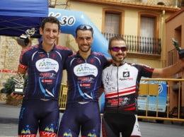 Adelino Moll, Saoro Moll y Moisés Espinós en el podium