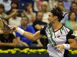 David Ferrer conectado un golpe de derecha