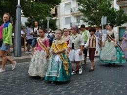 Pasacalle Corte de Honor Infantil Fogueres Xàbia 2014