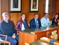 Los representantes municipales y los promotores del evento