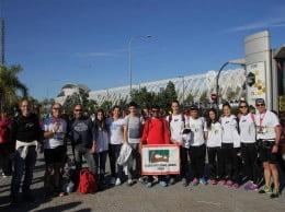 Expedición del Club Atletismo Llebeig en la Maratón de Valencia