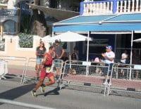 Ignacio Cardona afrontando sus últimos metros de la carrera