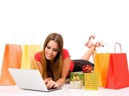 Compras online durante la Navidad