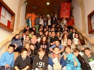 Los alumnos del colegio María Inmaculada visitaron el consistorio