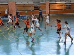 Partido de las infantiles del Club Handbol Xàbia