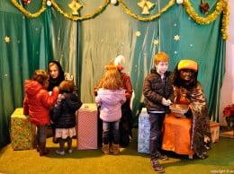 Muchos niños trajeron sus cartas