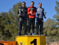Nasio Cardona en el podium de La Nucía