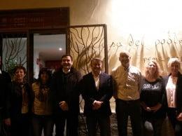 José Chulvi con sus compañeros del PSOE Xàbia