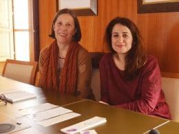 Empar Bolufer  y Eugenia Bolufer en la presentacion programa dia de la dona