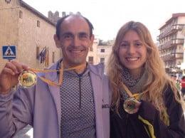 Ignacio Cardona junto a Aine Sentous en Onil