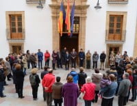 Minuto de silencio en el ayuntamiento de Jávea