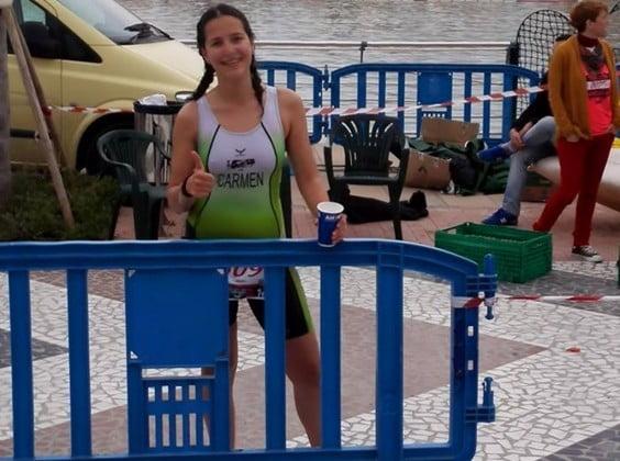 Carmen Bolufer en el Triatlon Playa de Gandía