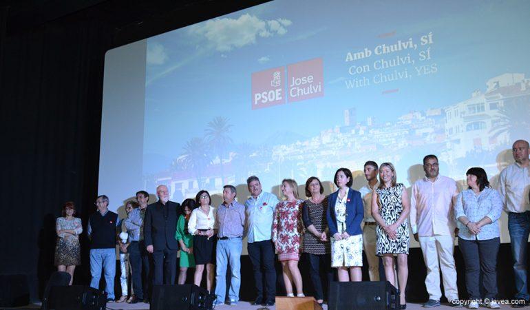 Miembros de la lista PSOE Xàbia 2