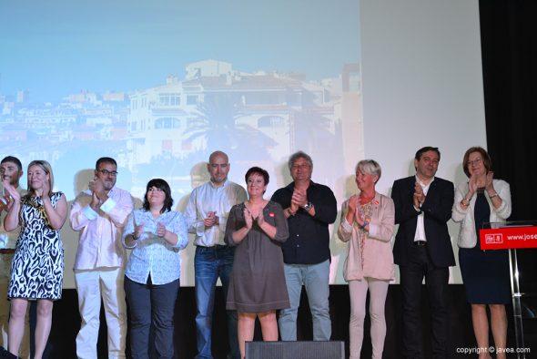 Miembros de la lista del PSOE Xàbia