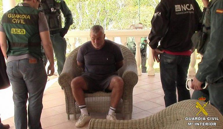 Momento de la detención de Paul Graham Monk