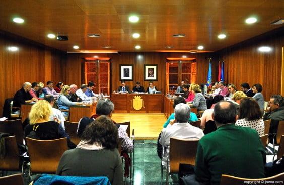 Una sesión del Pleno de Jávea