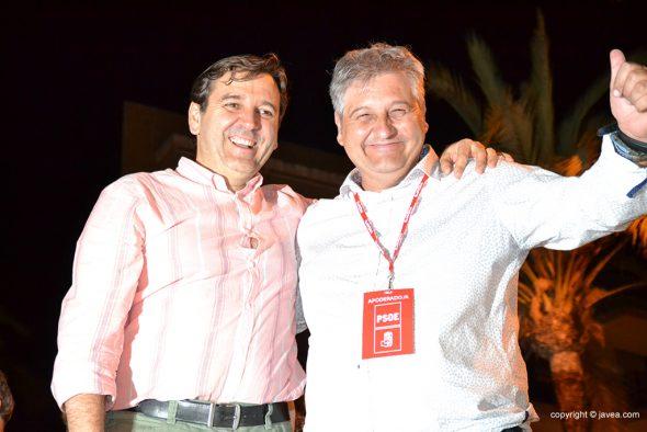 Antonio Miragall y Quico Moragues concejales del PSOE