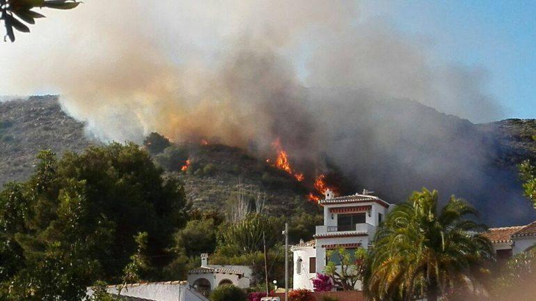 Incendio zona de Castellans